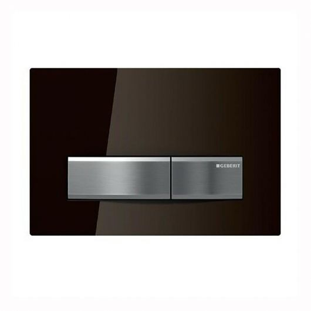 Betätigungsplatte Glasfront umbra (braun) Sigma50 zu UP Sigma 300/320-2M GEBERIT